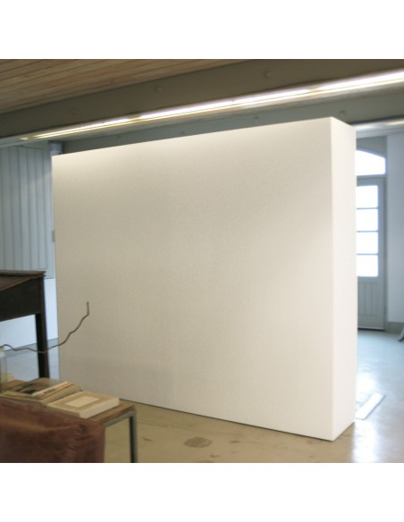 Mobile gallery wall with storage