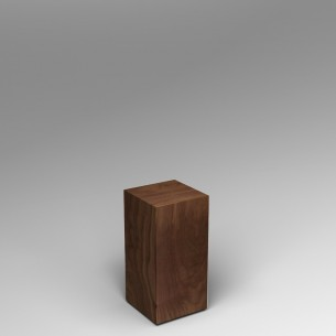 SALE Walnut Plinth 60H x 30W x 30D