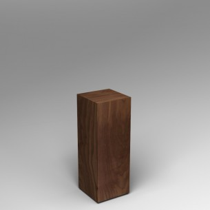 SALE Walnut Plinth 80H x 30W x 30D
