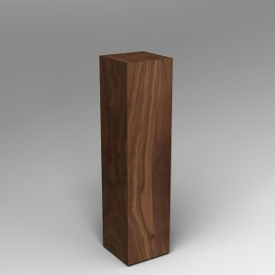 SALE Walnut Plinth  120H x 30W x 30D