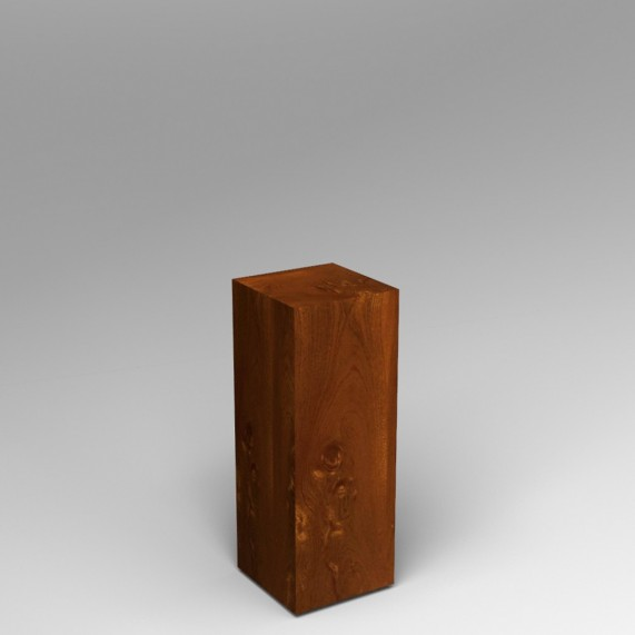 Sapele Veneered Plinth 60H x 30W x 30D cm