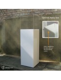 Zebrano Veneered Plinth 100H x 40W x 40D cm