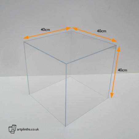 HIRE Perspex display case 40cm³