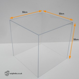 HIRE Perspex display case 50cm³