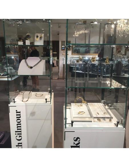 British Fashion Council X Artplinths glass showcases