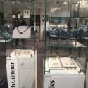 Glass display case and  plinth (locking)