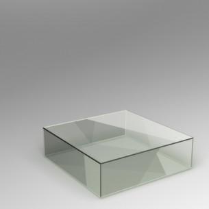 SALE Perspex 30H x 100W x 100D.cm
