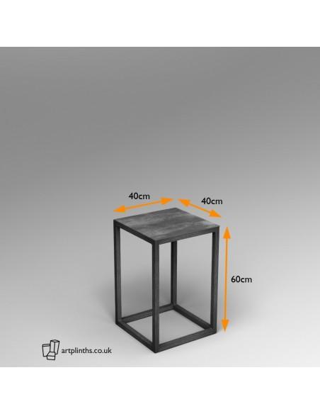 Steel frame plinth 60H x 40W x 40W cm