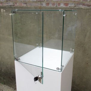 HIRE Glass Case 40cm³ + Plinth