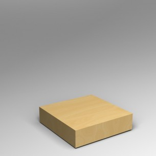 Maple Low Platform Plinth 20H x 80W x 80D SALE