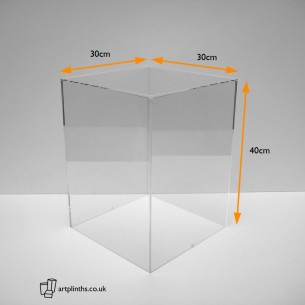 40H x 30WD cm Acrylic Display Case HIRE