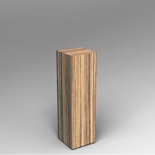 Zebrano Plinth 100H x 30W x 30D SALE