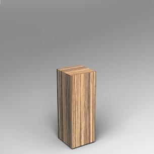 Zebrano Plinth 80H x 30W x 30D SALE