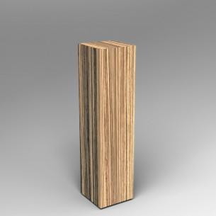 Zebrano Plinth 120H x 30W x 30D SALE