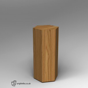 Hardwood Hexagon  Plinth 100H x 40W cm SALE