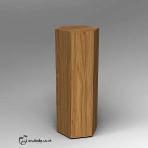 Hardwood Hexagon Plinth 120H x 40W cm SALE