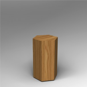 Hardwood Hexagon Plinth 80H x 40W cm SALE