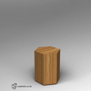 Hardwood Hexagon Plinth 60H x 40W cm SALE