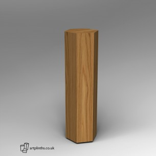 Hardwood Hexagon Plinth 120H x 30W cm SALE