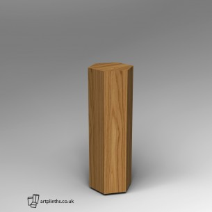 Hardwood Hexagon Plinth 100H x 30W cm SALE
