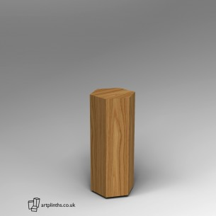Hardwood Hexagon Plinth 80H x 30W cm SALE