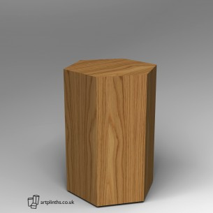 Hardwood Hexagon Plinth 100H x 60W cm SALE