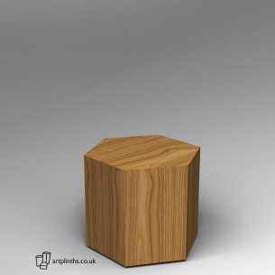 Hardwood Hexagon Plinth 60H x 60W cm SALE
