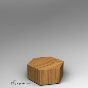 Hardwood Hexagon Plinth 30H x 60W cm SALE