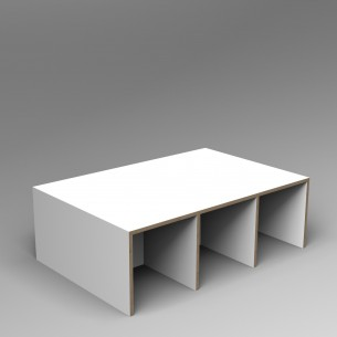 Gallery Bench 6 Colour Ply 6 Seater