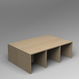 Gallery Bench 6 Birch Ply 6 Seater