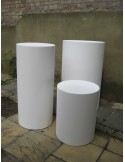 100H x 60Dcm cylinder plinth