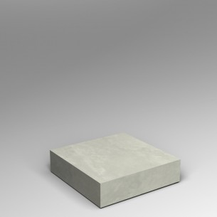 Concrete effect 20H x 80W x 80D cm low platform SALE