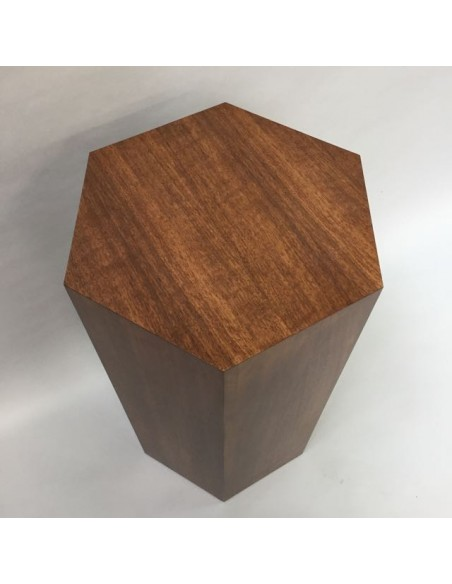 Hardwood Hexagon Plinth 120H x 40W cm SALE