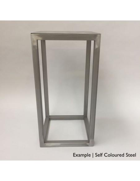 Steel frame plinth 80H x 40W x 40W cm