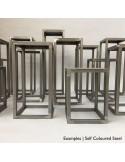 Steel frame plinth 130H x 30W x 30W cm