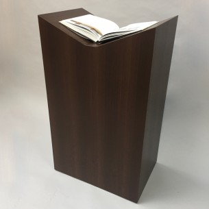SALE  Book Plinth in Hardwood veneers