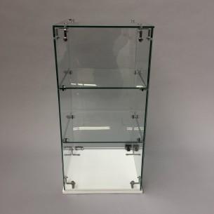 Glass display case hire 59H x 30WD cm