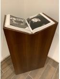 walnut Plinth 120H x 30W x 30D cm