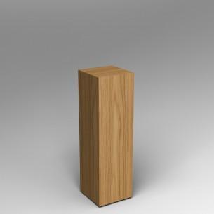 Oak Veneered Plinth 100H x 30W x 30D cm