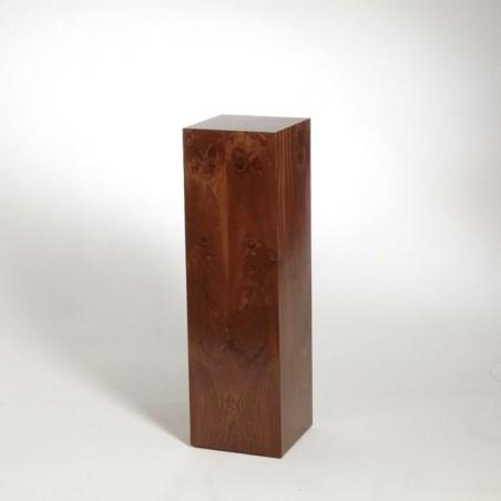Sapele (Mahogany) Plinth 120H x 30W x 30D cm