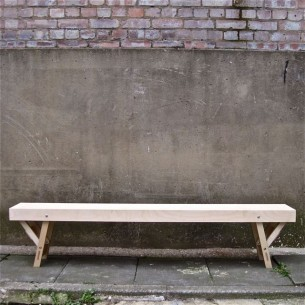 Folding Gallery Bench in Birch Ply