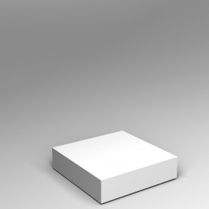 Low platform plinth by artplinths 20H x 80W x 80D cm