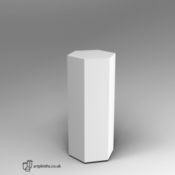 Hexagon shape plinths in a range of finishes and pedestal sizes