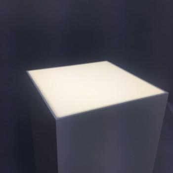 LED lit plinths | Light box Plinths with lit tops.