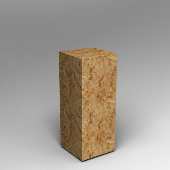 Oriented strand board (OSB) plinths and Pedestals by Artplinths ,  flake board or sterling board plinths.